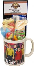 Star Trek Characters Mug with/without a space travelling selection of 60's/70s or 80's retro sweets.
